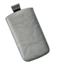 "Tasche Star Case Slim Case ""01""Gr.M silver Für Apple: iPhone 2G, iPhone 3G, iPhone 3G S, iPhone 4, Ipod Touch Blackberry: 8520 Curve Gemini, 8900 Curve, 9500 Storm, 9700 Bold2 HTC: Hero, Magic, Touch HD LG Electronics: GC900 Viewty Smart, KB770, KM900, KP500, KP501 Nokia: 5630 XpressMusic, 5730 XpressMusic, 6290, E63, E71, E72, N82, N86 8MP, N95, N95 8GB, N96, N97, X6 Palm: Palm Pre Samsung: G810, H1, i7110 Pilot, i7500 Galaxy, i8000 Omnia 2, i8510 innov8, i900, M1, S3650 Corby, S5600 Sony-Erics"