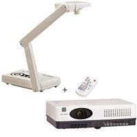 Elmo 130622 CO-10 Document Camera with CRP-22 Projector, 2MP CMOS Chip, 8x Digital Zoom, 2600 Lumens, USB 2.0