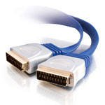 Cables To Go 0.5m Premium Gold Flat Scart RGB Cable