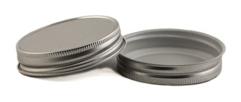 Shiny Metal One Piece Storage Lids Caps for Mason Jars (12 Pack, Regular Mouth)