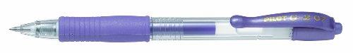 Pilot G207 - Bolígrafo de punta redonda de gel (retráctil, punta de 0,7 mm, 12 unidades), color violeta metálico