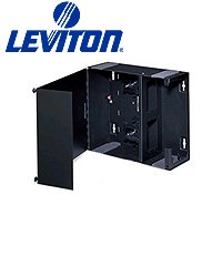 Leviton 5W320-N Medium Wall Mount Enclosure, Empty with Split Metal Door and One Lock/Key (Leviton Door Switch compare prices)