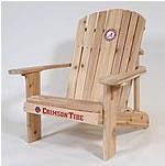University of Alabama 2010 BCS Championship Logo Adirondack Chair 23 inch Seat Width