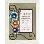Framed Art - Tabletop - LoveLea - The Gift Of A Sister (7 x 9)