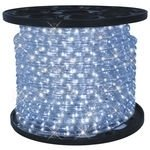 26.2 Feet Cool White Led Round Rope Lights 3/8 Inch Diameter - 110 Volts