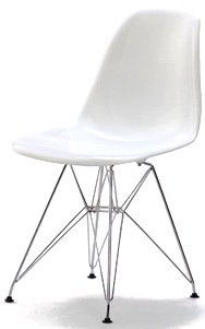 Set of 2 Charles  &  Ray Eames Style Style DSR Eiffel Dining Lounge Chair (White) x 2 by Lavin Lifestyle