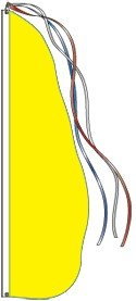 Solid Color Feather Dancer Flag (13 Feet, Yellow, Complete Kit)