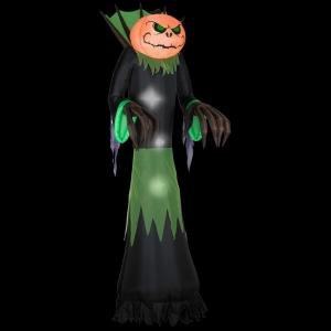 Halloween Decoration Lawn Yard Inflatable Airblown Pumpkin Reaper Light Up 10' Tall front-303760
