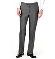 Autograph Straight Leg Flat Front Trousers with Wool