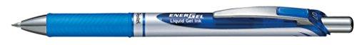 Pentel EnerGel - Bolígrafo de tinta gel con botón (tinta violeta, 12 unidades)