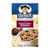 Quaker Instant Oatmeal With Real Raisin Date & Walnuts, 10-Packets 13-Oz