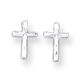 Sterling Silver Cross Post Mini Earrings
