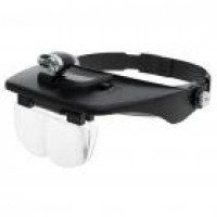 Light Head Magnifying Glasses with 4 Pieces Different Multiple Lens (2*AAA)