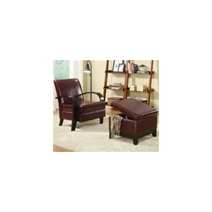 red accent chairs on Amazon Com  Bentwood Wine Red Accent Chair With Storage Ottoman By