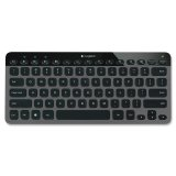 Logitech Bluetooth Illuminated Keyboard K810 for PCs, Tablets, Smartphones - Black