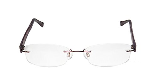 Charmant 10946 Womens/Ladies Prescription Ready High-end Designer Rimless Eyeglasses/Spectacles (51-17-140, Brown) (Charmant Eyeglass Frames compare prices)