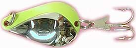 American Fishing Wire Acme K.O. Wobbler Spoons Size: 1/4 Oz. (660); Color: Nickel/Chart. Stripe (Ncs)