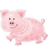 "35"" Large Farm Animal Pig Mylar Balloon"