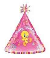 "18"" Tweety Birthday Flowers Personalized Junior Shape by Anagram CD"