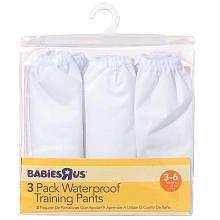 Babies R Us Vinyl Pants - 6M - 3PK - Neutral - 1