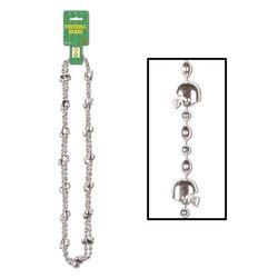 Football Beads (silver)    (2/Card)