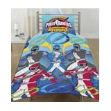 Power Ranger 3 Blue Cot Bed Duvet Cover Junior bedding Cot Bedby Matching Bedroom Sets Ltd