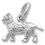 Rembrandt Charms Cat Charm - Sterling Silver