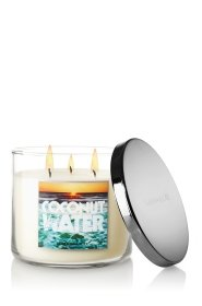 Bath /& Body Works Coconut Leaves 3-Wick Candle Scented 14.5 oz BRAND NEW GIFT!