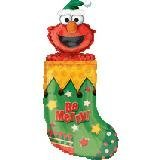 "Single Source Party Supplies - 36"" Elmo in Stocking Mylar Foil Balloon"