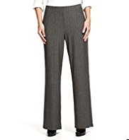M&S Collection Wide Leg Pinstriped Trousers