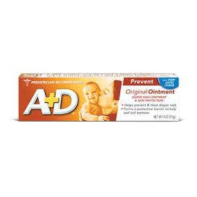 A+D Diaper Rash Cream, Dimethicone Zinc Oxide Cream, 4 oz (113 g) (Pack of 4)