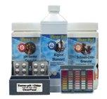 Pool Wasserpflege Starter Set Chlor Algizid pH Wert Wasser Teststreifen