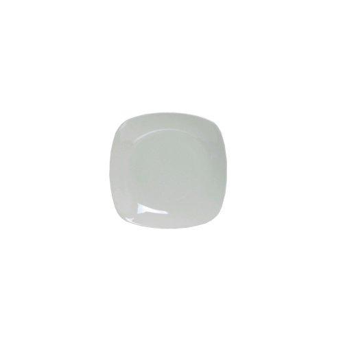 "Tuxton Bph-126C 12.75"" Porcelain White Square Plate - 6 / Cs"