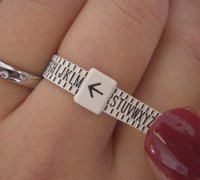 UK Ring Sizer / Measure For Women Sizes A-Z Free
