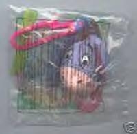 McDonalds Happy Meal 1999 Winnie the Pooh Key Ring #7 Eeeyore - 1