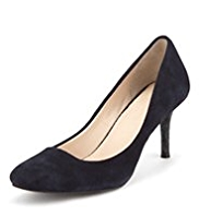 Autograph Suede Mid Heel Court Shoes with Insolia®