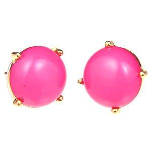 Fashion Jelwery Women Bubble Bib Earring Stud Earrings 12mm Diameter Hot Pink by integritycherry