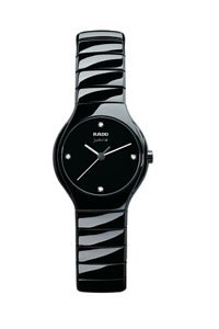 Rado Women's R27655742 True Jubile Analog Display Swiss Quartz Black Watch