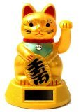 Bringer of Luck - Japanese Waving Lucky Cat - Now Solar Powered!