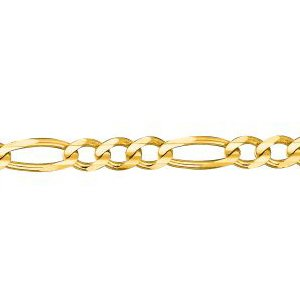 14K Solid Yellow Gold Classic Figaro Chain Necklace 3.8mm thick 30 Inches