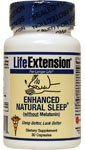 Life Extension Enhanced Natural Sleep without Melatonin Capsules, 30 Count