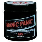 Manic Panic 4oz Semi-Permanet Hair Dye Raven Ebony Black