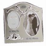 "Two Tone Silverplated Wedding Anniversary Gift Photo Frame - ""25th Silver Anniversary"" from Juliana"