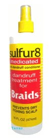 medicated dandruff treatment for braids