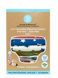 Charlie Banana 2-in-1 Reusable Diapering System, 6 Diapers plus 12 Inserts, All American, One-Size