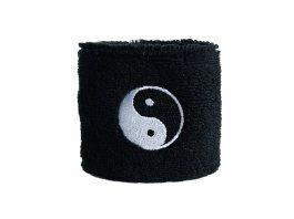 Digni® Poignet éponge avec drapeau Ying et Yang noir
