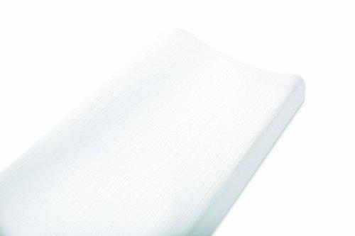 Imagen de Aden + Anais Muselina de algodón 100% Cambio de almohadilla de la cubierta, sólido blanco