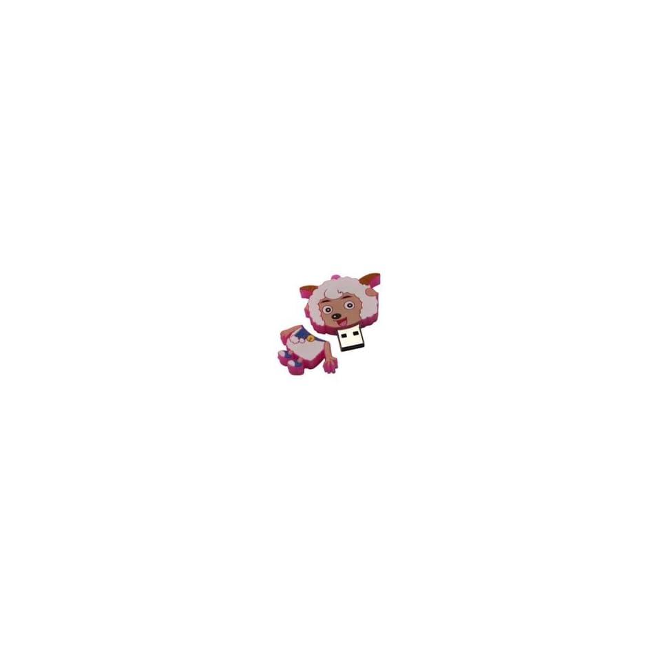 8GB Goat Shaped Cartoon USB Flash Drive Pink