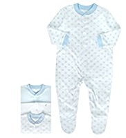 3 Pack Pure Cotton Star Sleepsuits