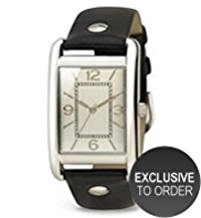 M&S Collection Rectangular Face Analogue Stud Strap Watch
